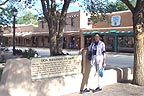Sandra at Taos square another view