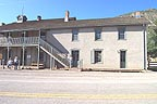 Courthouse in Lincoln.  Originally a store, Billy the Kid was jailed here and broke out, killing 2 deputies