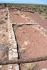 Village foundations at Anasazi site